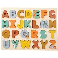 Small Foot Safari Beillesztős puzzle - Ábécé - Fa kirakós játékok