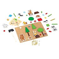 Bigjigs Toys Kreatív kalapálós játék - Élet az erdőben - Kreatív játék