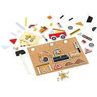 Bigjigs Toys Kreatív kalapálós játék - Közlekedés - Kreatív játék