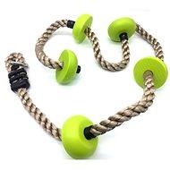 Dvěděti gyerek mászókötél zöld korongokkal - Játszótér kiegészítő