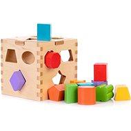 Fajáték Fa oktató kocka formák beillesztése - Dřevěná hračka
