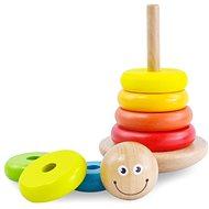 Fajáték Színes fa piramis - Dřevěná hračka