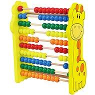 Fajáték Fa abacus zsiráf - Dřevěná hračka