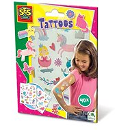 Kreatív szett SES Gyermek tetoválások lányoknak, 40 db
