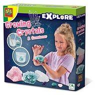 Kreatív szett SES Növekvő kristályok és drágakövek