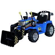 MASTER traktor kanállal, kék, hátsókerék-meghajtással - Elektromos autó gyerekeknek