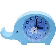 Analóg ébresztőóra, elefántos kivitelben, kék színben - Ébresztőóra