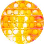 Pop it - kör, 12,5 cm narancsszín-sárga - Társasjáték