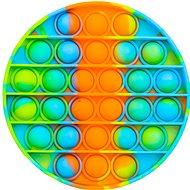 Pop it - kör, 12,5 cm narancsszín-kék - Társasjáték