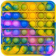 Pop it - négyzet, 12,5 cm kék-sárga - Társasjáték