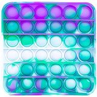 Pop it - négyzet, 12,5 cm türkiz-lila - Társasjáték