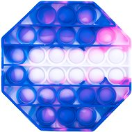 Pop it - nyolcszög, 12,5 cm kék-rózsaszín - Társasjáték