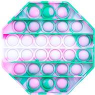 Pop it - nyolcszög, 12,5 cm türkiz-lila - Társasjáték