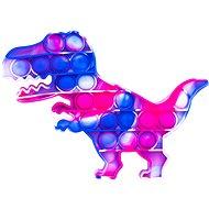 Pop it - dinoszaurusz, 19x14 cm lila-kék - Társasjáték