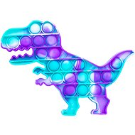Pop it - dinoszaurusz, 19x14 cm türkiz-lila - Társasjáték