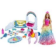 Barbie hercegnő és szivárványos egyszarvú játékkészlet - Játékbaba