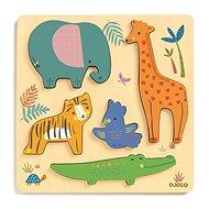 DJECO Puzzle a legkisebbeknek Állatkák a dzsungelben - Puzzle