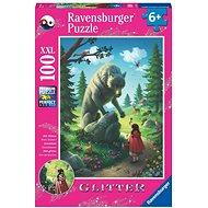 Ravensburger 129881 Csillámló puzzle Farkas 100 darab