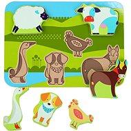 Lucy & Leo 226 Állatok a farmon - fa kirakós 7 darabos puzzle - Kirakós játék