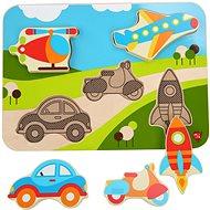 Lucy & Leo 229 Járművek - fa puzzle 6 darab - Kirakós játék