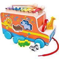 Bino Autó xilofonnal - Játékautó