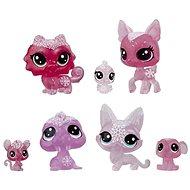 Littlest Pet Shop Állatkák a Jégvarázsból 7db - rózsaszín - Játékszett