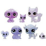 Littlest Pet Shop a Jég Királyság állatai 7 db - lila - Játékszett