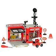 Tűzoltóság autóval - összecsavarozható - játéka beállítva