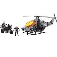 Katonai helikopter és motorkerékpár játékszett - Játék szett