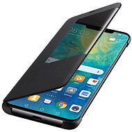 Huawei Original S-View Mate 20 Pro-hoz fekete (EU Blister) - Mobiltelefon tok