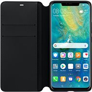 Huawei Original Wallet Mate 20 Pro-hoz fekete (EU Blister) - Mobiltelefon tok