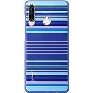 Huawei Original Colorful TPU Lines tok P30 Lite készülékhez, kék - Mobiltelefon hátlap