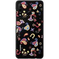 Huawei Original Colorful TPU Flower tok P30 Lite készülékhez, fekete - Mobiltelefon hátlap