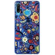 Huawei Original Colorful TPU Flower tok P30 Lite készülékhez, kék - Mobiltelefon hátlap