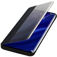 Huawei Original S-View tok P30 Pro készülékhez, fekete - Mobiltelefon tok