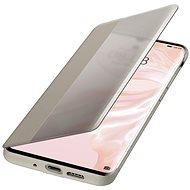 Huawei Original S-View tok P30 Pro készülékhez, khakiszínű - Mobiltelefon tok
