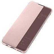 Huawei Original S-View tok P30 Lite készülékhez, rózsaszín - Mobiltelefon tok