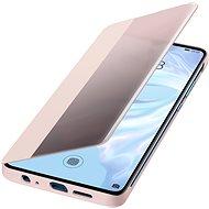 Huawei Original S-View tok P30 Pro készülékhez, rózsaszín - Mobiltelefon tok