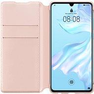 Huawei Original Wallet tok P30 készülékhez, rózsaszín - Mobiltelefon tok