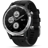 Garmin Fenix 5 Plus Silver, Black Band - Okosóra