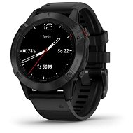 Garmin Fenix 6 Glass, Black/Black Band (MAP/Music) - Okosóra