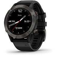 Garmin Fenix 6 Sapphire, Gray/Black Band (MAP/Music) - Okosóra