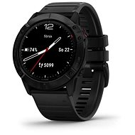 Garmin Fenix 6X Glass, Black/Black Band (MAP/Music) - Okosóra
