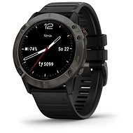 Garmin Fenix 6X Sapphire, GrayDLC/Black Band (MAP/Music) - Okosóra