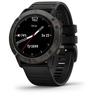 Garmin Fenix 6X Solar, TitaniumGrayDLC/Black Band (MAP/Music) - Sportóra