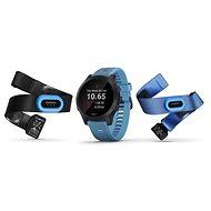 Garmin Forerunner 945, kék/szürke - HRM-Tri és HRM-Swim pánttal - Sportóra