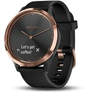 Garmin vívomove HR Sport, Rose Gold - Black (S/M méret) - Okosóra