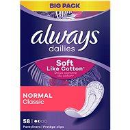 ALWAYS Dailies Soft Like Cotton Normal, 58 db - Egészségügyi betét
