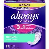 ALWAYS Dailies Fresh & Protect Normal, 60 db - Egészségügyi betét