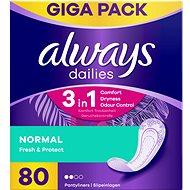 ALWAYS Dailies Fresh & Protect Normal, 80 db - Egészségügyi betét